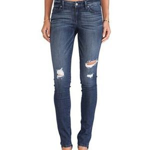 Level 99 Anthro Lily Skinny Distressed Jeans